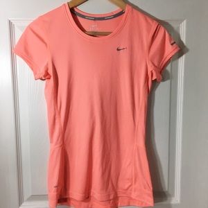 NIKE Coral Dry Fit Running Tee Size XS